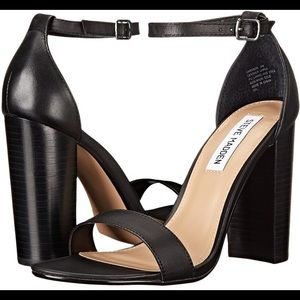 Steve Madden Carson Black Leather Heels